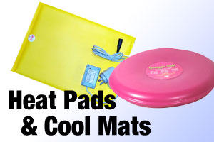 Heat pads and cooling mats
