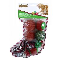 Go!Cat!Go! Holiday Stocking for Cats 10 toys